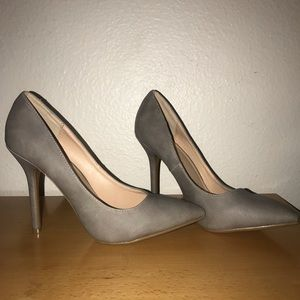 Wild Diva Gray High Heel 8.5